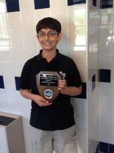 Recipient of the John C. Rennie science award:  Sarvesh Sakunala