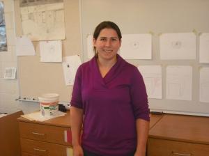 Ms. Sarah Baldwin, Marshall Simonds' newest Art teacher.