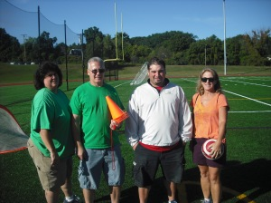 The MSMS P.E. Staff:  (from left to right) Donna McCarthy, Kevin McDonough, Richard Baczewski, and Teresa Kelly.