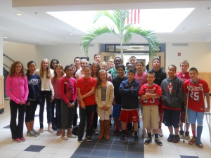 7th Grade Student Council Members from All Teams.