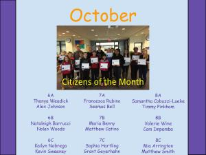 Citizens of the Month-October