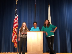 The Class of 2019's class officers: (from left to Right) Vice President Rylee Glennon, President Kadyn Fennell, and Treasurer Alison Martin.