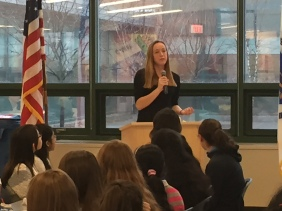 High School senior and MSMS alum Michaela Mazure encouraged students to be outgoing and actively participate in class, clubs, and sports.