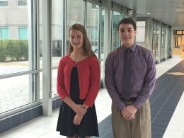 Kristina Wolinski and Andrew Woods are currently the class of 2019's top-performing students.