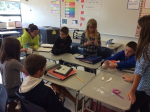 6C students participate in a Keys to Literacy Activity.