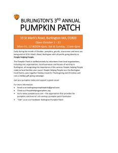 pumpkin patch for school newsletters