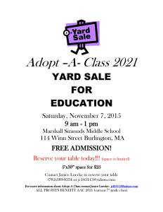 Yard Sale Flyer 2015