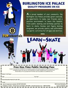 2015 Bulington Ice Palace Skating Pass (email)