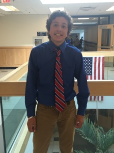 The President of the Class of 2020, Ben Ramirez.