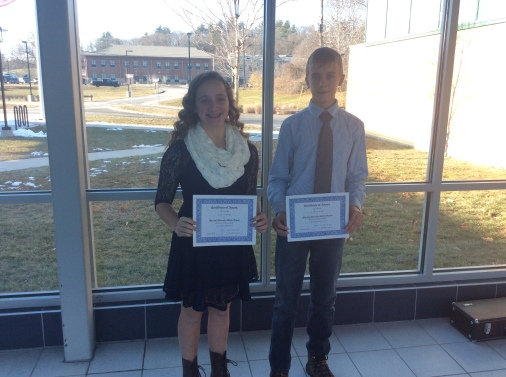 Jonathan W. and Angela M. are 8th Grade's top scholars for Q1.