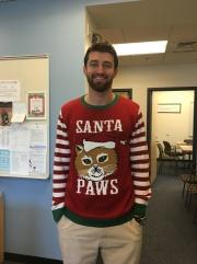 Mr. Nelson was chosen for best ugly sweater among MSMS teachers.