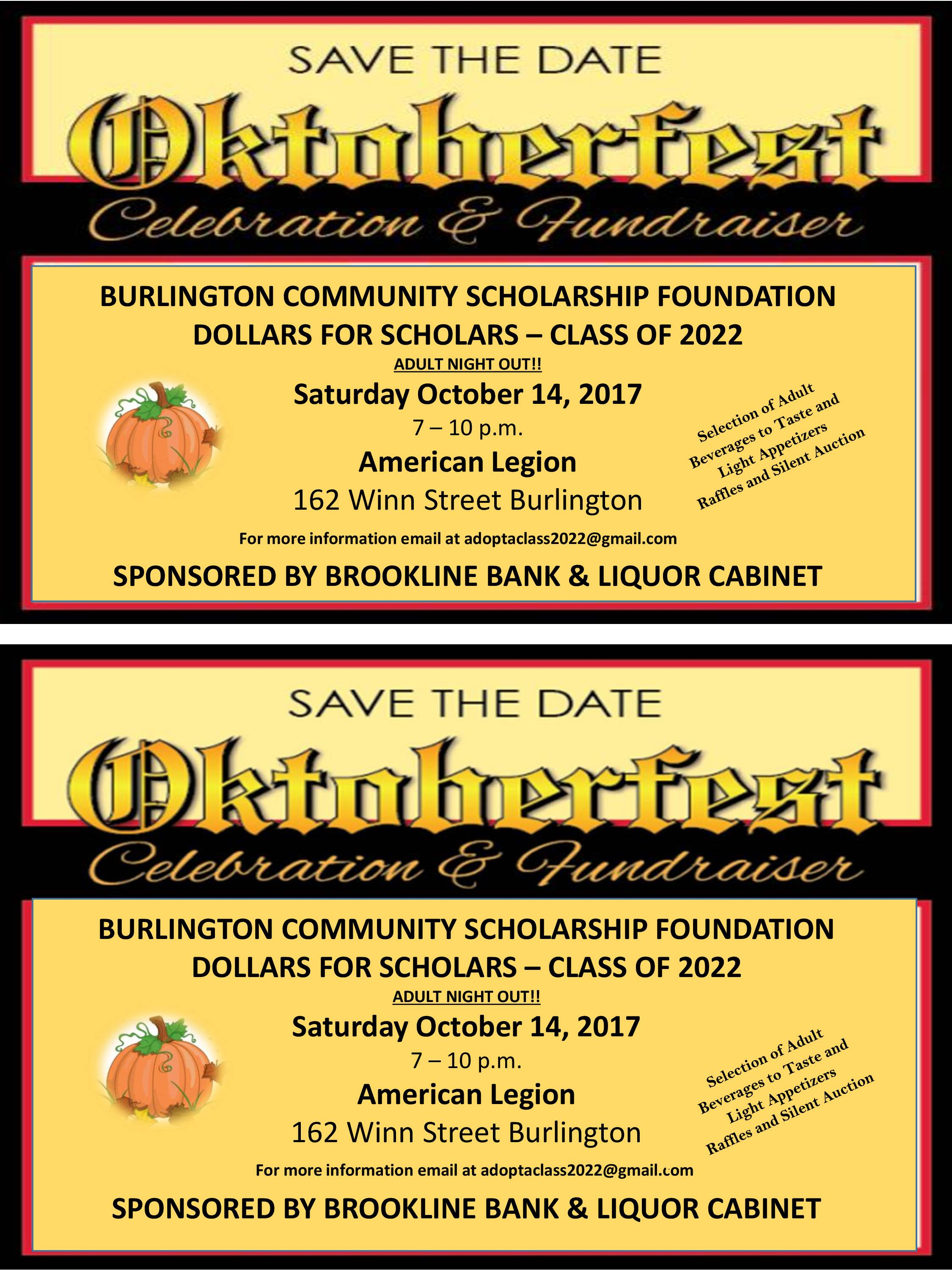 Dollars For Scholars Class Of 2022 Presents Oktober Fest Celebration And  Fundraiser