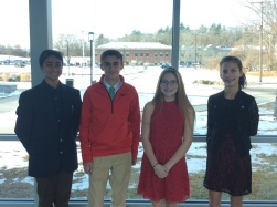 The Top Scholars of Q1: Rohan V, Ryan C, Elena L, and Madison B